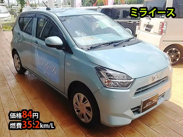 ミライース、価格84万円、燃費35.2km/L