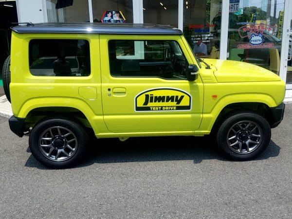 新型ジムニーの外観・横画像